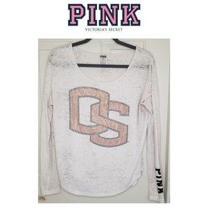 3/$25 🥂 Pink Victoria's Secret Oregon Beavers Tee